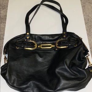 Jimmy Choo authentic large black leather tote